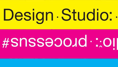 Museum für Gestaltung, Design Studio: Prozesse, Ausstellungsgrafik